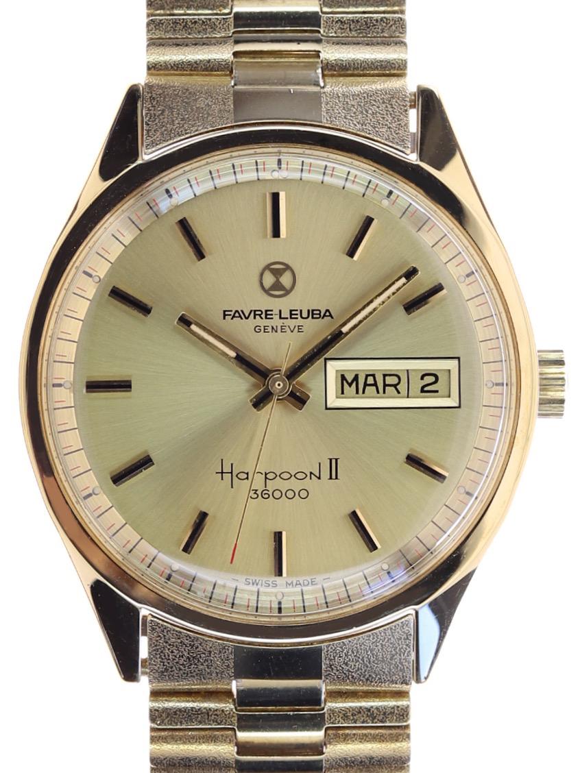 Favre Leuba Harpoon II Plaque/Steel Back 1960s - www.joseph-watches.com